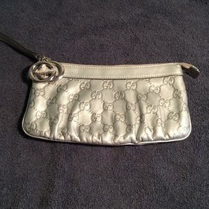 Gucci leather wristlet